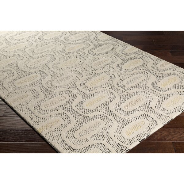 Duane Hand-Tufted Neutral/Gray Area Rug by George Oliver