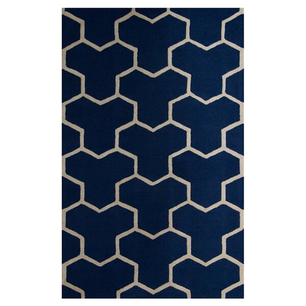 Harbin Navy Blue/Ivory Area Rug by Brayden Studio