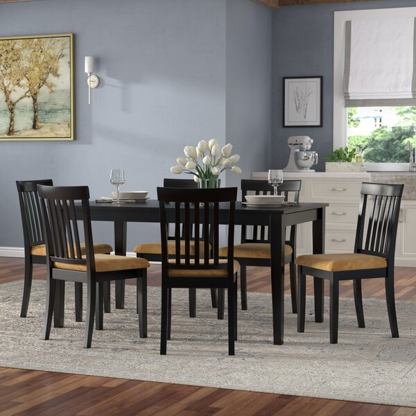 Oneill 7 Piece Wood Dining Set by Andover Mills Andover Mills