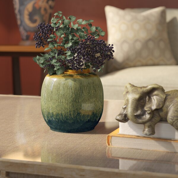 Round Ceramic Vase by World Menagerie