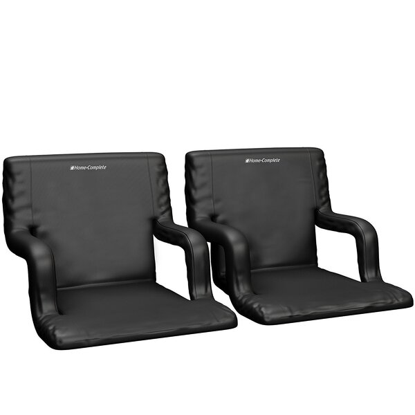 Reclining/ Folding Stadium Seat with Cushion (Set of 2) by Home-Complete Home-Complete