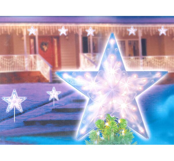 14 Clear Lighted Twinkling Christmas Star Pathway Marker by Sienna Lighting