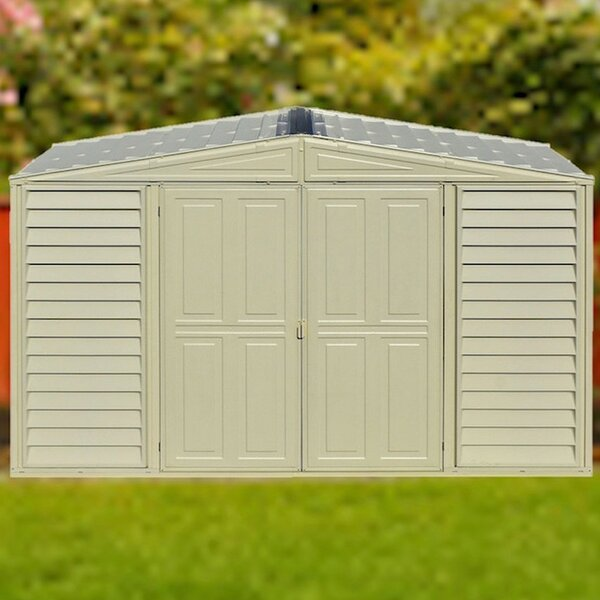 WoodBridge 10 ft. 5 in. W x 5 ft. 2 in. D Plastic Storage Shed by Duramax Building Products