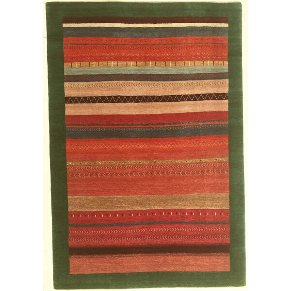 One-of-a-Kind Coralie Hand-Knotted Wool Red Area Rug by Isabelline
