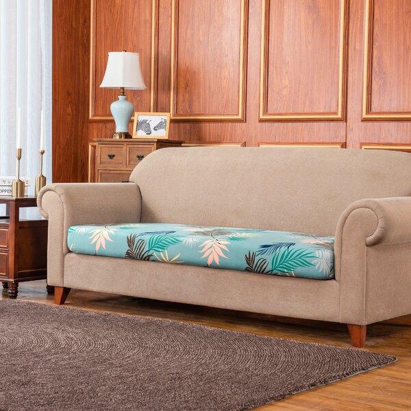 Rocco Leaves Printed Elastic Box Cushion Sofa Slipcover By Bayou Breeze