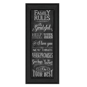 'Family Rules' Framed Textual Art by Trendy Decor 4U