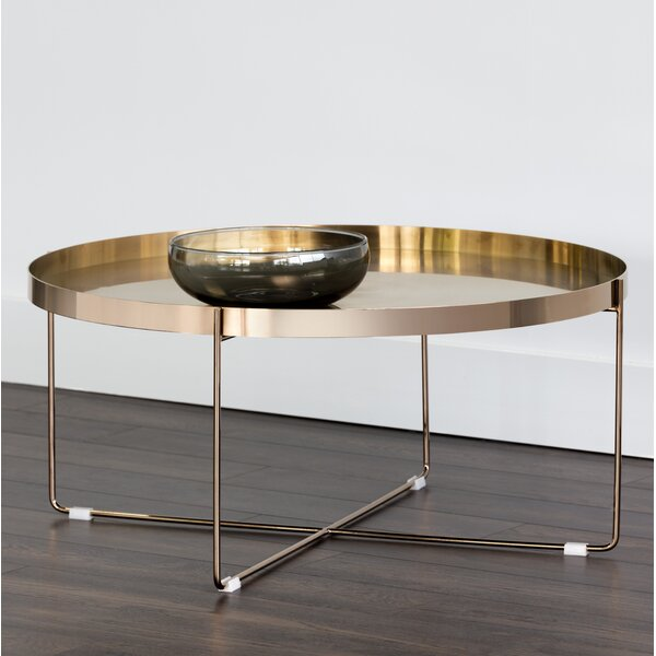 Topanga Coffee Table With Tray Top By Everly Quinn