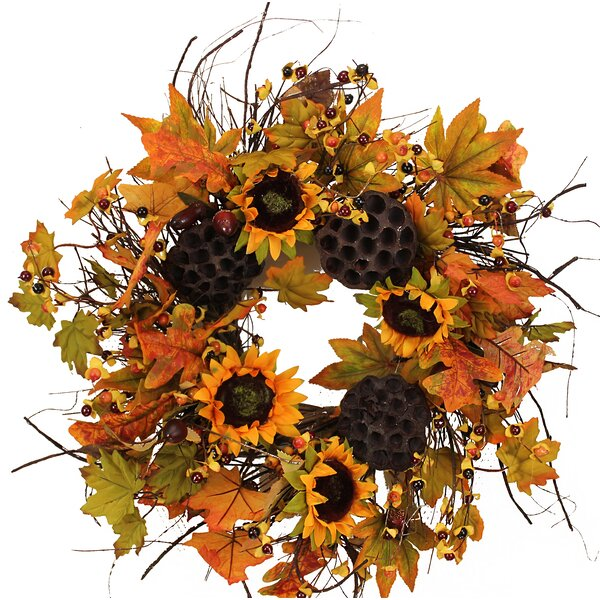 Fall 19 Sunflower and Berries Wreath by The Holiday Aisle