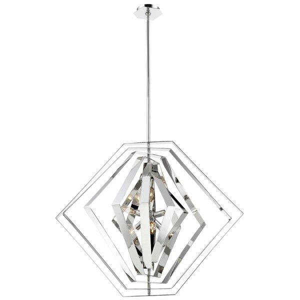 Lenna 6-Light Unique / Statement Geometric Chandelier By Orren Ellis