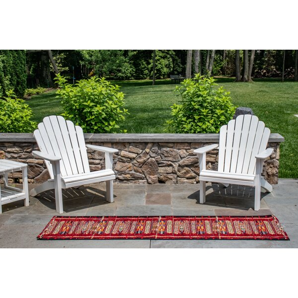 Brilliant Tribal Stripe Red Indoor/Outdoor Area Rug by Bungalow Rose