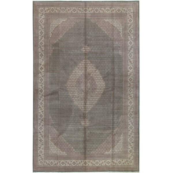 One-of-a-Kind Shah Hand-Knotted Gray 11'9 x 17'9 Wool Area Rug