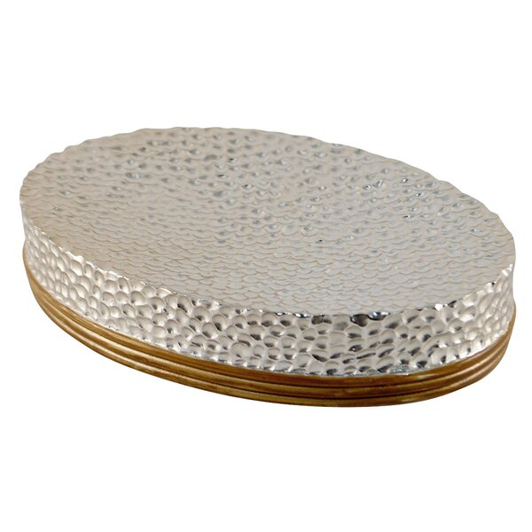 Hammered Metal Soap Dish by MCS Industries