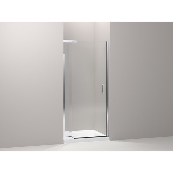 Purist 33 x 72 Pivot Shower Door with CleanCoat® Technology by Kohler