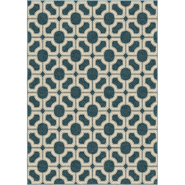 Portwood Azo Blue/Beige Indoor/Outdoor Area Rug by Beachcrest Home