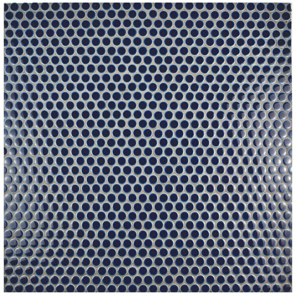 Penny 0.8 x 0.8 Porcelain Mosaic Tile in Smoky Blue by EliteTile