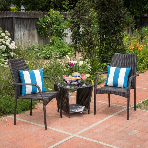 Woolbright 3 Piece Conversation Set by Wrought Studio