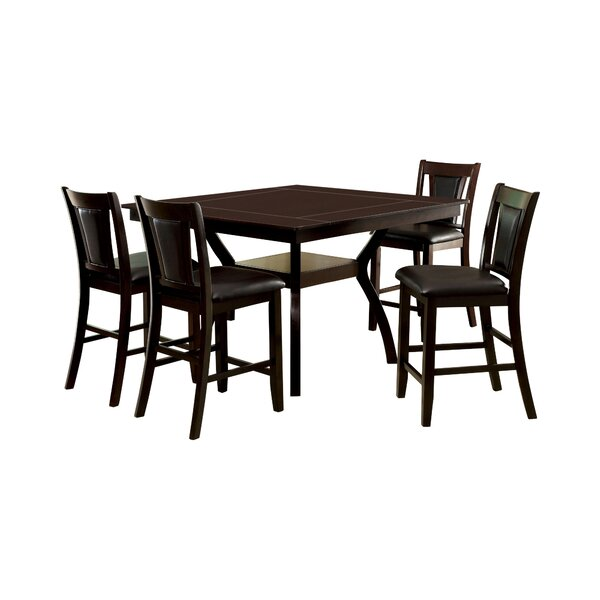 Wilburton 5 Piece Pub Table Set by Darby Home Co