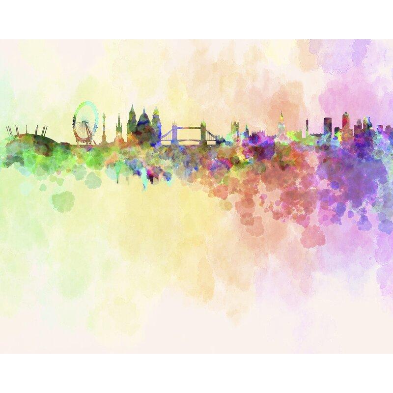 brayden studio slaton london skyline 7 83 l x 118 w wall mural