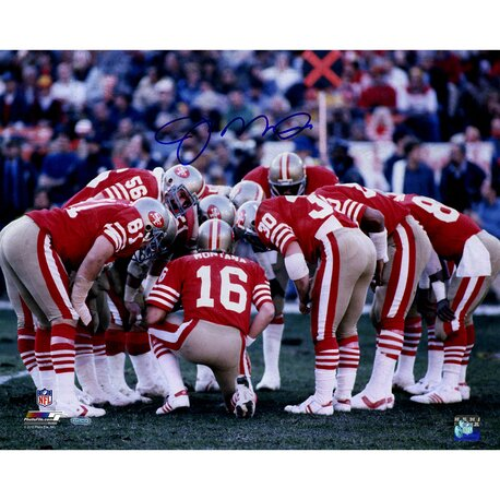 Joe Montana San Francisco 49ers Huddle Photo Graphic Art by Steiner Sports