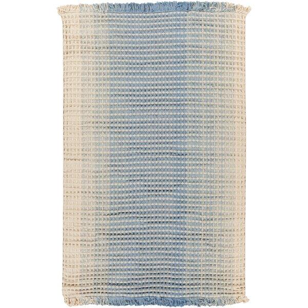 Rhiannon Hand-Woven Blue/Beige Area Rug by August Grove