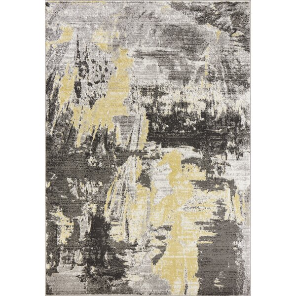 Tompkins Watercolor Gray Area Rug by Andover Mills