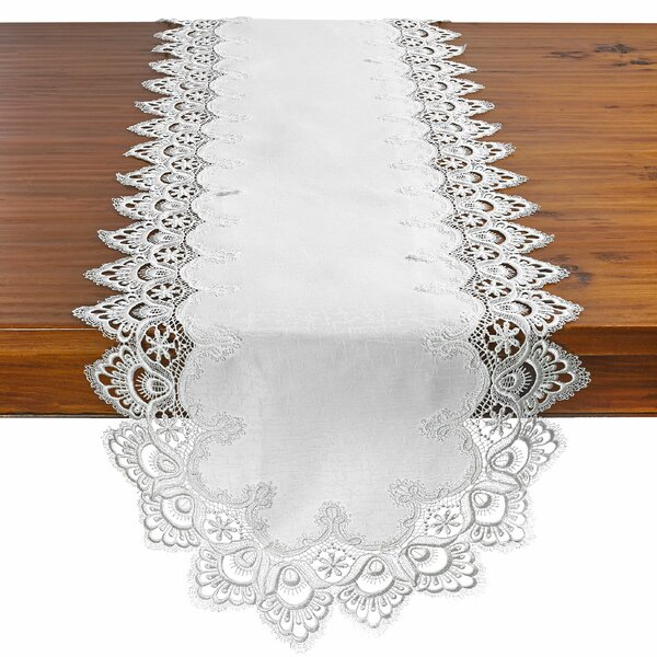Armando Decorative Handmade Embroide Lace Table Runner by Astoria Grand