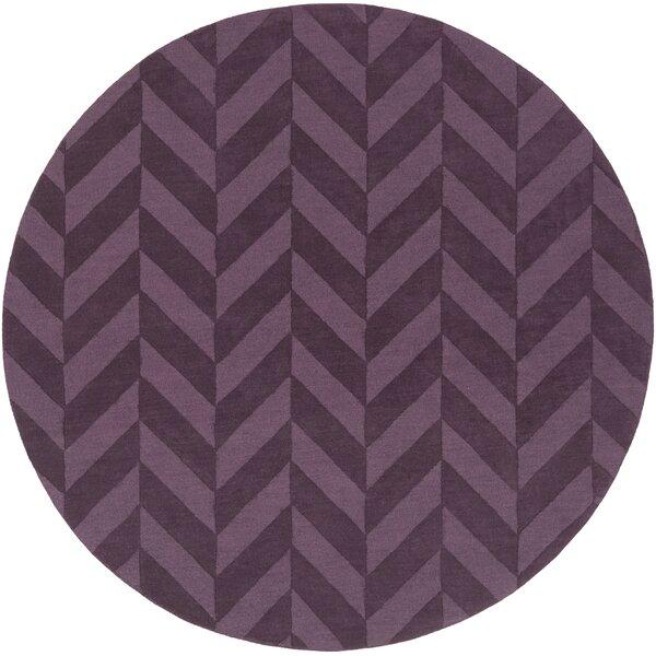 Sunburst Handwoven Wool Purple Area Rug by Greyleigh
