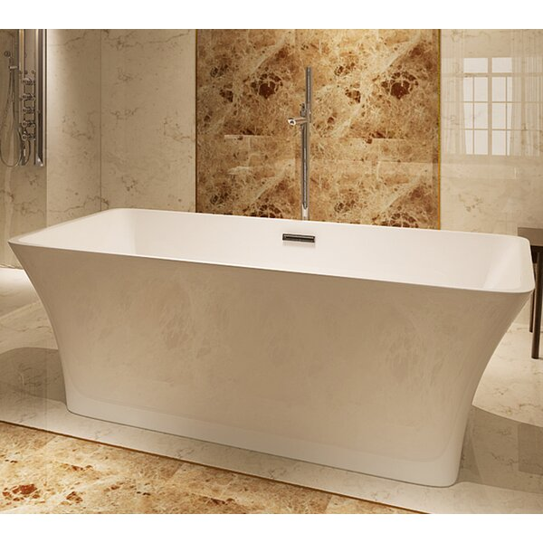 HelixBath Parva 67 x 31.5 Soaking Bathtub by Kardiel