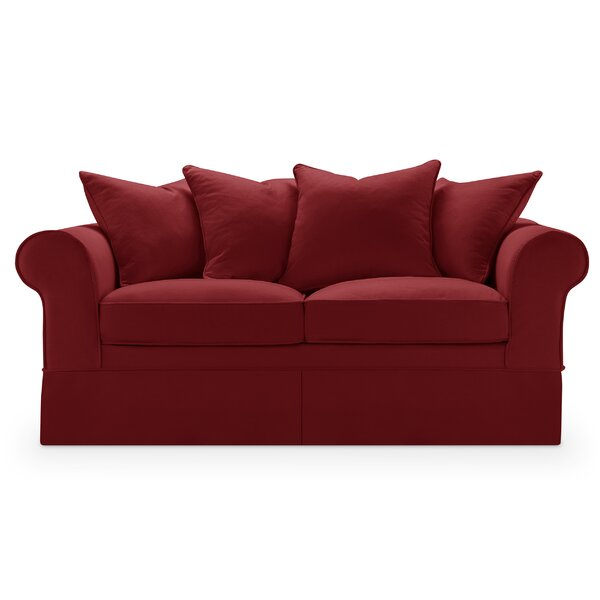 Milla Slipcover Loveseat by Highland Dunes