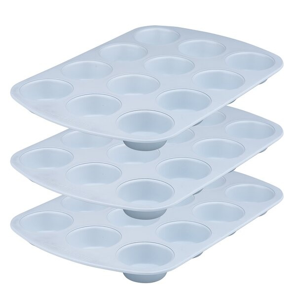 12 Cup Non-Stick Muffin Pan (Set of 3) by Range Kleen