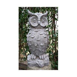 Large stone garden ornaments wayfair owl stone garden statue workwithnaturefo