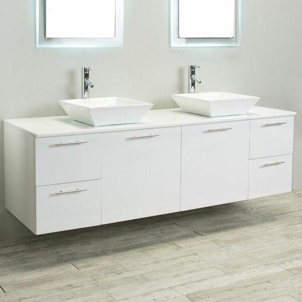 Orrville 72 Wall-Mounted Double Bathroom Vanity