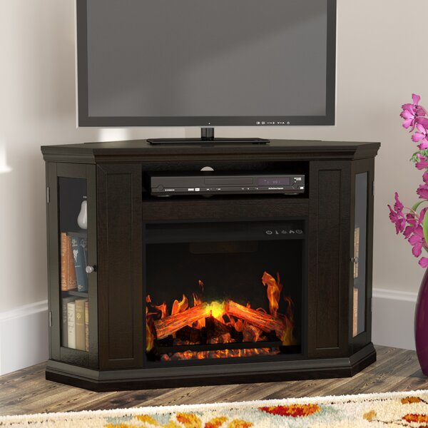 Dunminning Corner TV Stand with Fireplace by Alcott Hill