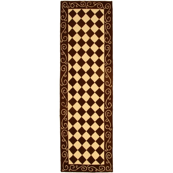 Brayton Brown/Ivory Area Rug by Fleur De Lis Living