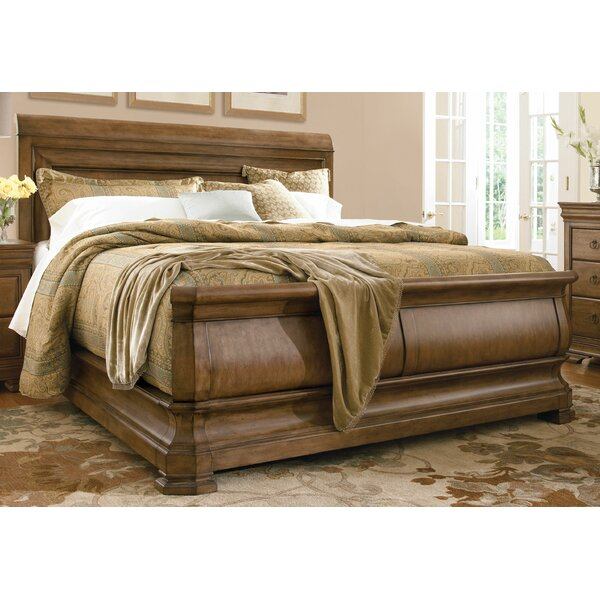 Mauritane Sleigh Bed by World Menagerie