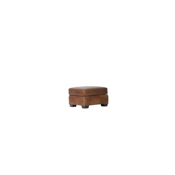 Coggins Leather Ottoman by Williston Forge