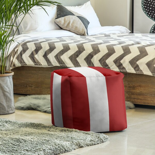 Indiana Stripes Cube Ottoman By East Urban Home