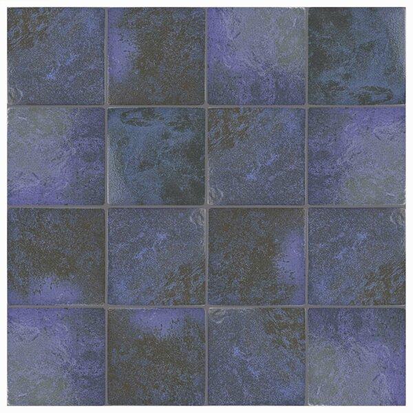 Luis 6 x 6 Porcelain Field Tile in Blue Laguna by EliteTile