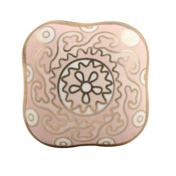 Ceramic Cabinet Square Knob by MarktSq