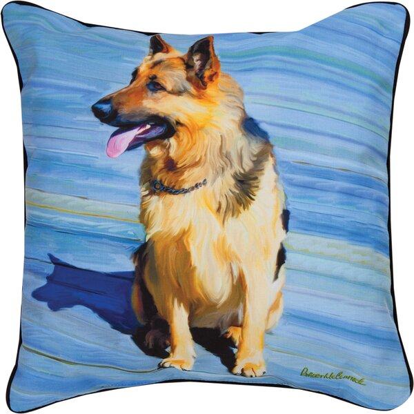 Big Schutz German Shepherd Throw Pillow by Manual Woodworkers & Weavers