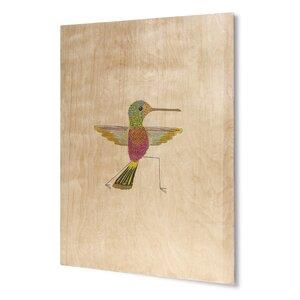 'Hummingbird Warrior 2' Painting Print on Wood by KAVKA DESIGNS