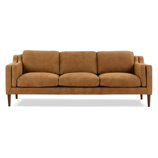 Jannie Leather Sofa by Corrigan Studio