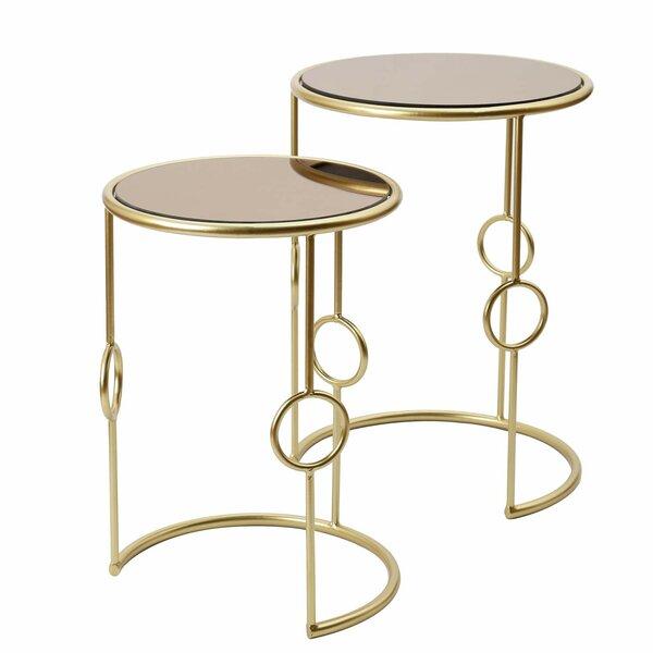 Valencia Decorative Round 2 Piece Nesting Tables by Mercer41