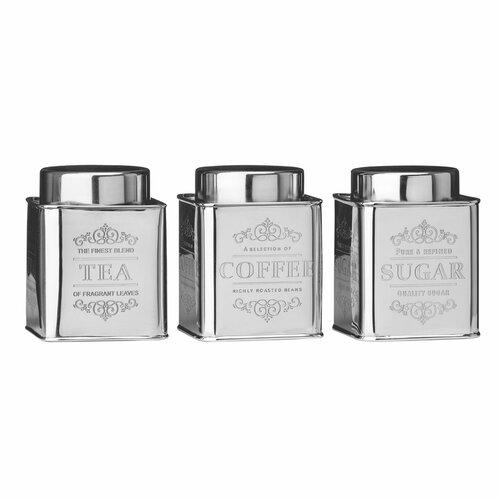 3-tlg. Dosen-Set Chai Tee Coffe Sugar Castleton Home | Küche und Esszimmer > Aufbewahrung > Vorratsdosen | Castleton Home