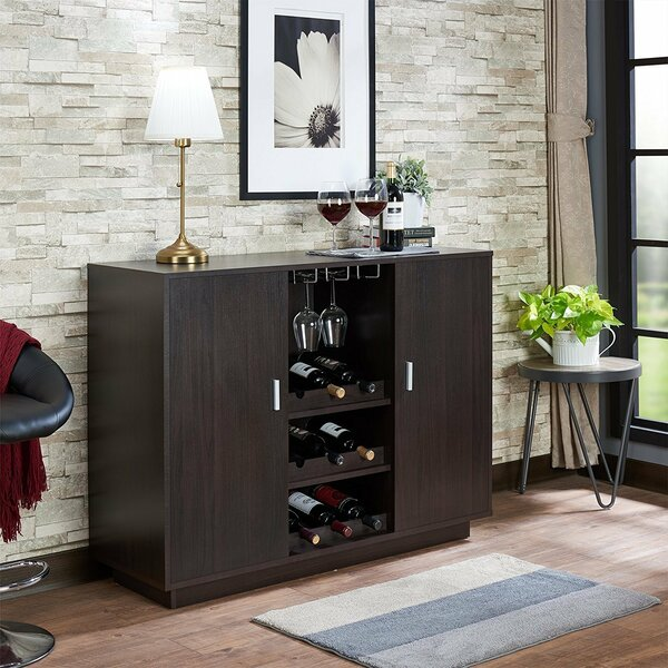 Funkhouser Wooden Bar with Wine Storage by Ebern Designs