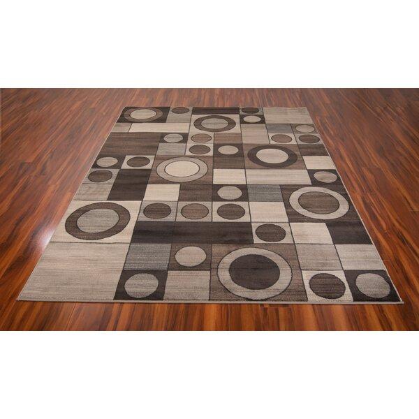 Gerstner Circles Gray/Charcoal Area Rug by Orren Ellis