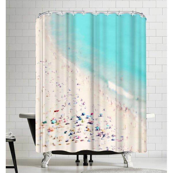 Beach Love Shower Curtain by East Urban Home