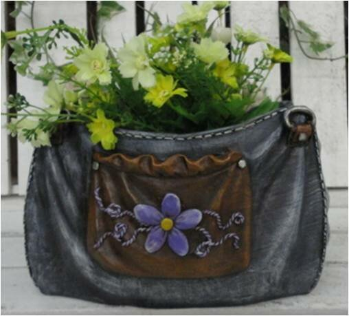 Bersani Polyresin Jeans Purse Pot Planter by August Grove