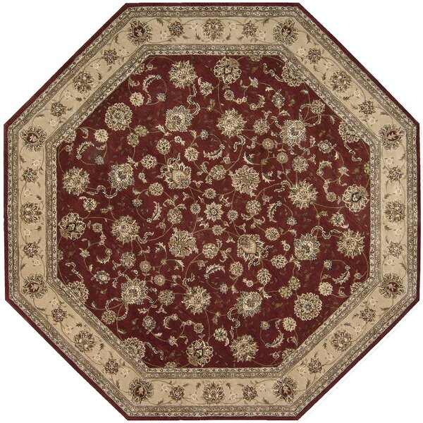 Ellerswick Hand Woven Wool Beige/Red Indoor Area Rug by Darby Home Co