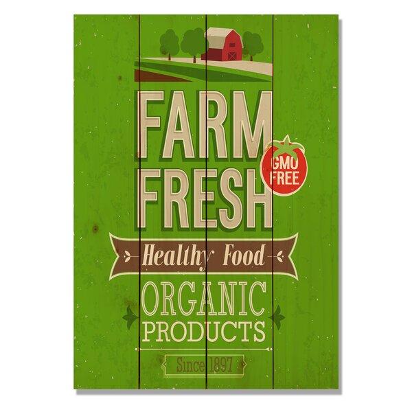 4 Piece Wile E. Wood Farm Fresh Vintage Advertisement Set by Gizaun Art